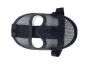 Maschera rete metallica modellabile nero
