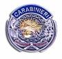 Placca tonda Carabinieri argento