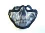 Maschera rete metallica teschio