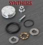 Testa pistone ergal cuscinettata doppio O-Ring - Synthesis