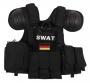 Tactical vest Combat SWAT M.O.L.L.E. nero