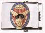 Fibbia metallo stemma riportato Parà