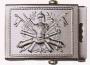 Fibbia metallo stemma riportato EI