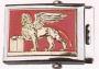 Fibbia metallo stemma riportato S. Marco