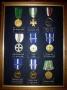 Quadro medaglie fine servizio