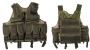 Tactical vest 9 tasche rete verde