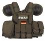Tactical vest Combat SWAT M.O.L.L.E. verde